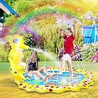 Herefun Splash Pad, 170 cm sprinkler speelgoed, Splash Play mat, waterspeelgoed, tuin, zomer, tuin, trampoline, voor…