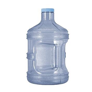 1 gallon jarra botella de agua potable de plástico sin BPA reutilizable Contenedor