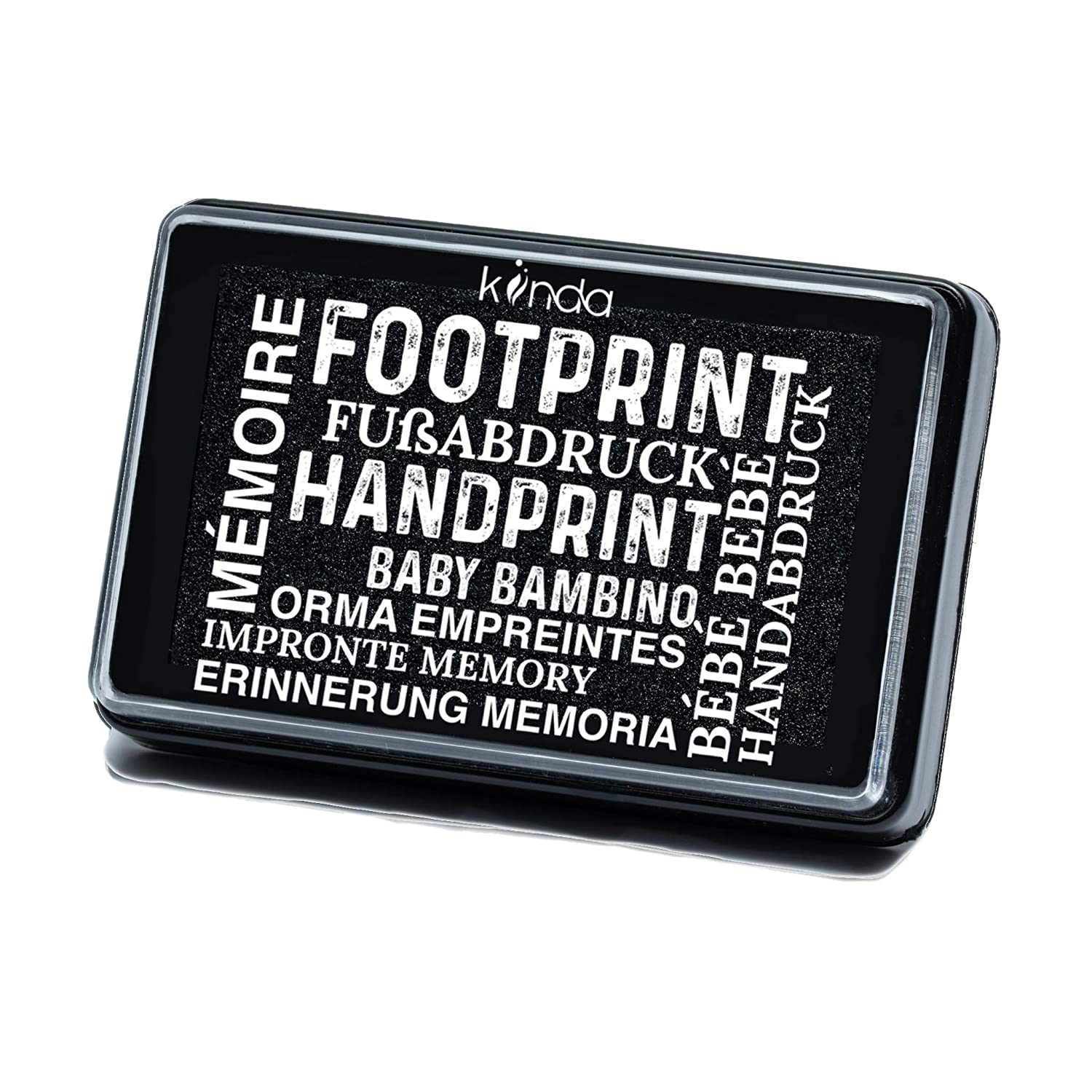 Smudge-Proof Designs Baby Ink Pad Print Stamps Reusable Feet /& Hands Stamps Green Acid-Free 100/% Non-Toxic Handprint /& Footprint Newborn Kit Ideal Family Memory