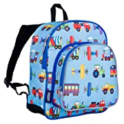 Wildkin 12 Inch Backpack, Trains Planes & Trucks