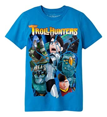 9ead206e Boys' Troll Hunters Short Sleeve T-Shirt - Blue -: Amazon.co.uk ...