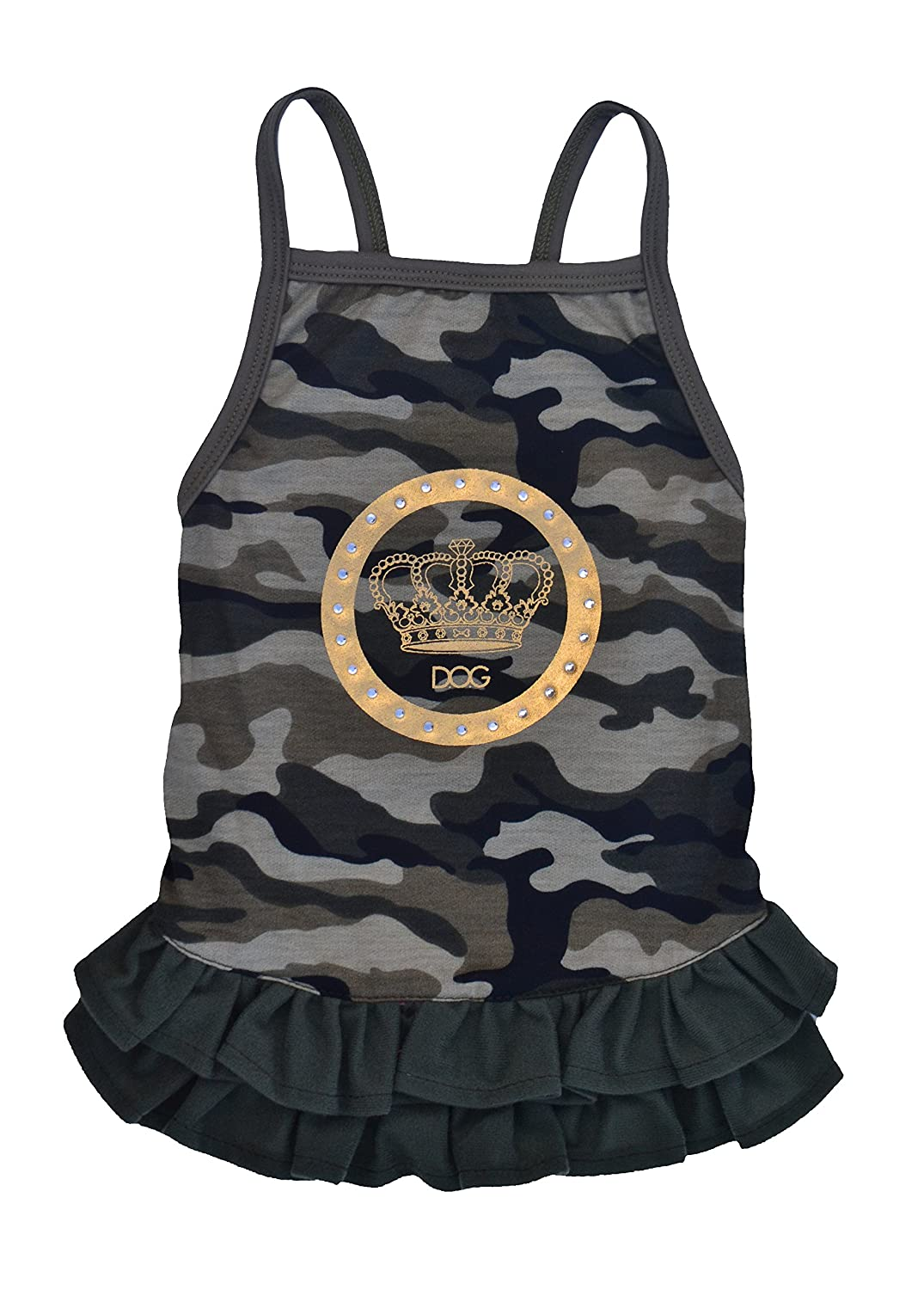D.O.G. DG00209-XS Camo Luxe Tank Female Skirt, Green Extra Small