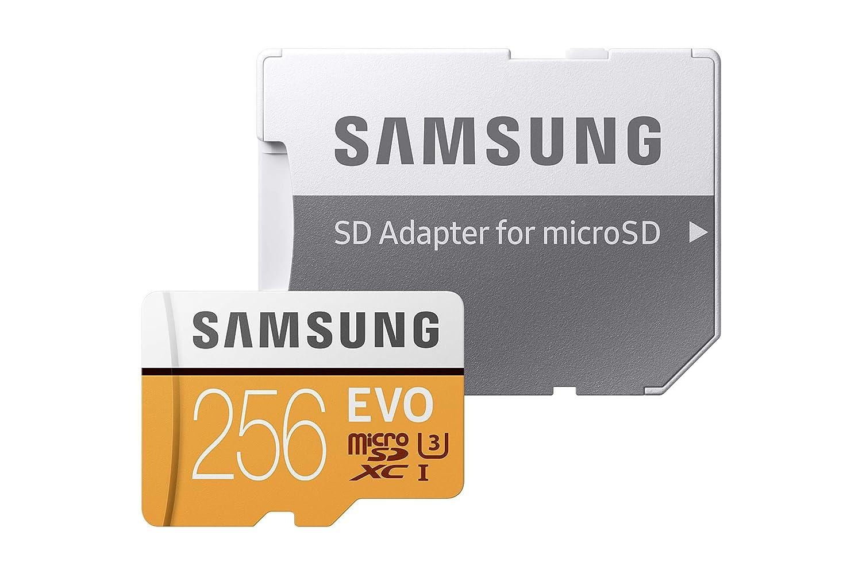 Naranja//Blanco Samsung EVO Tarjeta de Memoria microSD de 128 GB MicroSDXC EVO, 128 GB, MicroSDXC, Clase 10, 100 MB//s, UHS-I, IPX7