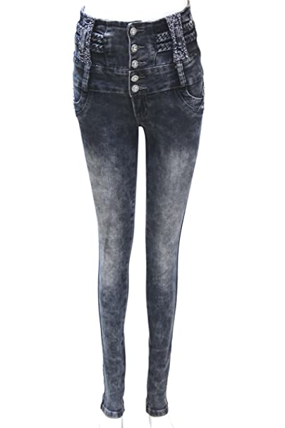 ZARINA®Pantalon vaquero de mujer,marca zarina,pantalon colombiano 1385,color azul