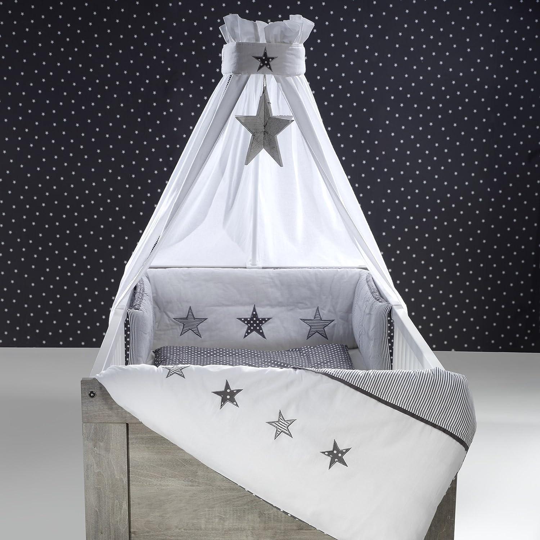 Schardt Himmelset Bettset 4-teilig Stern grau