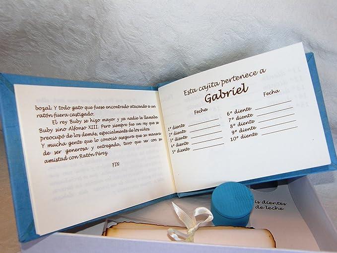 Libro del Ratoncito Pérez Azul hecho a mano y personalizado con el ...