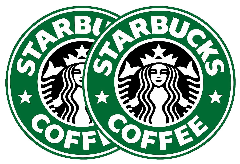 2 Pack Starbucks Coffee Logo Vinyl Decal Sticker car Laptop Phone case Bumper etc Delzam 3