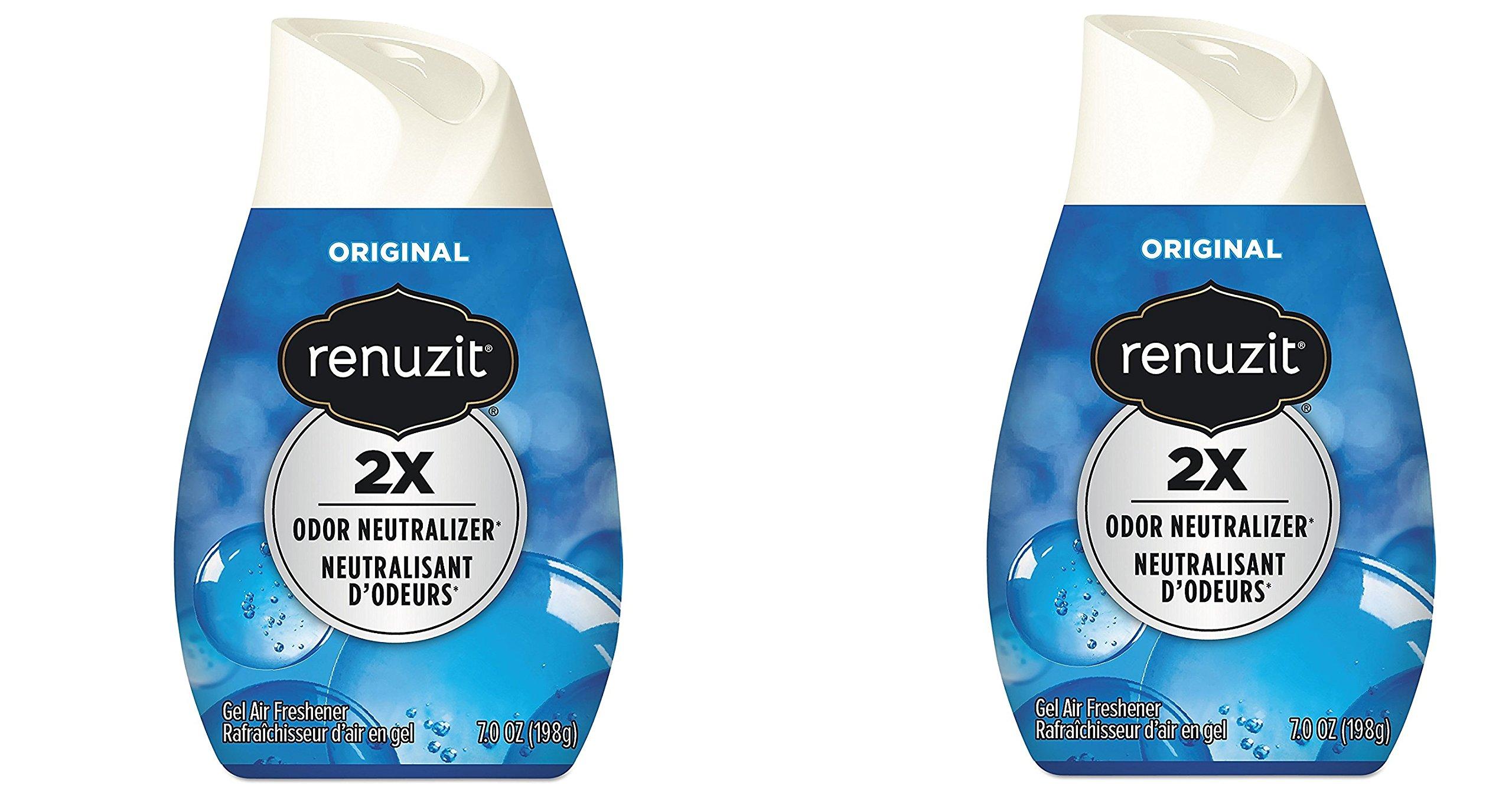 Renuzit 03659CT Adjustables Air Freshener, Super Odor Killerz, Unscented, Solid, 7 oz (Case of 12) (2 pack)