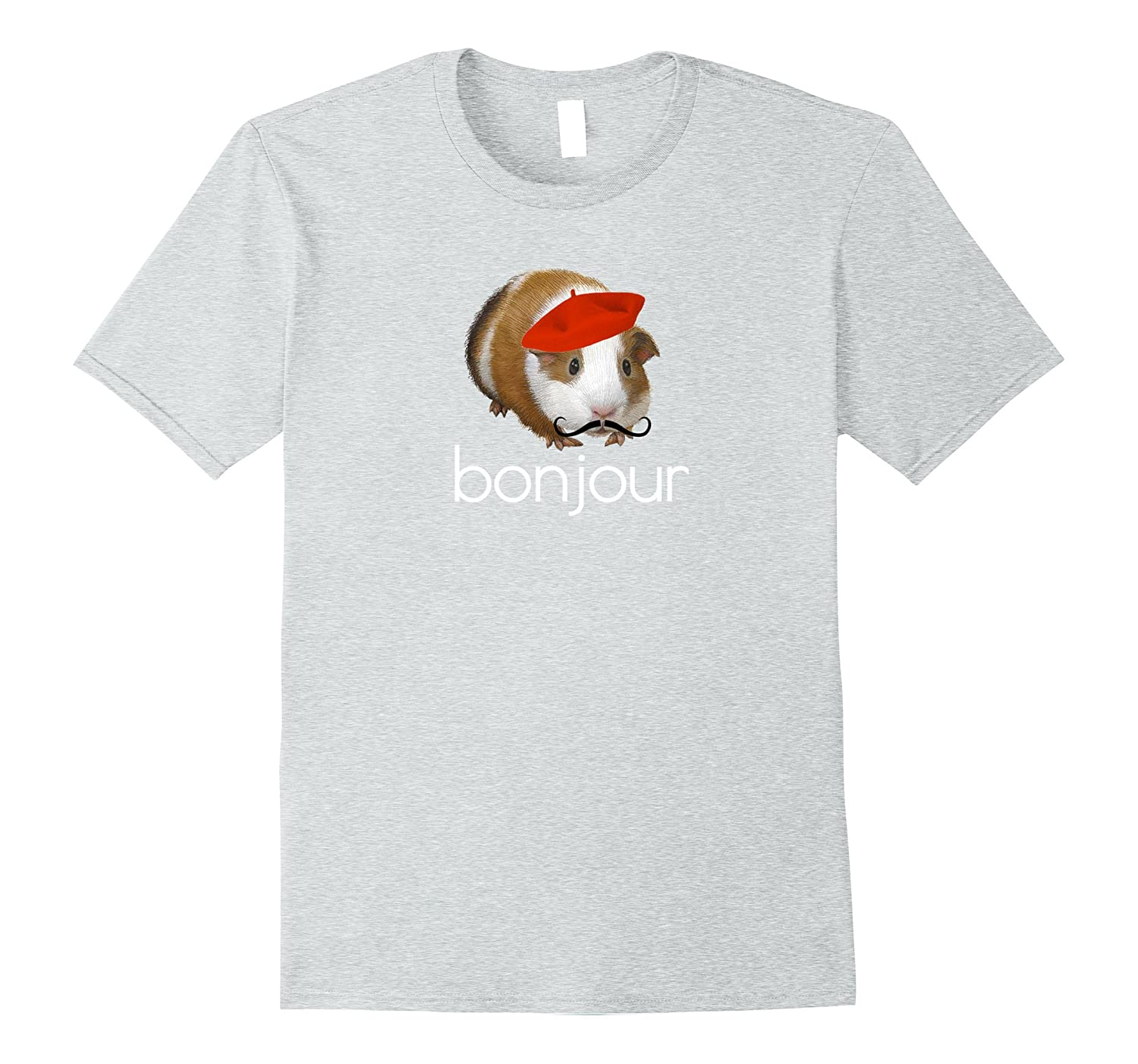 Bonjour French Guinea Pig Hello Statement T Shirt Th