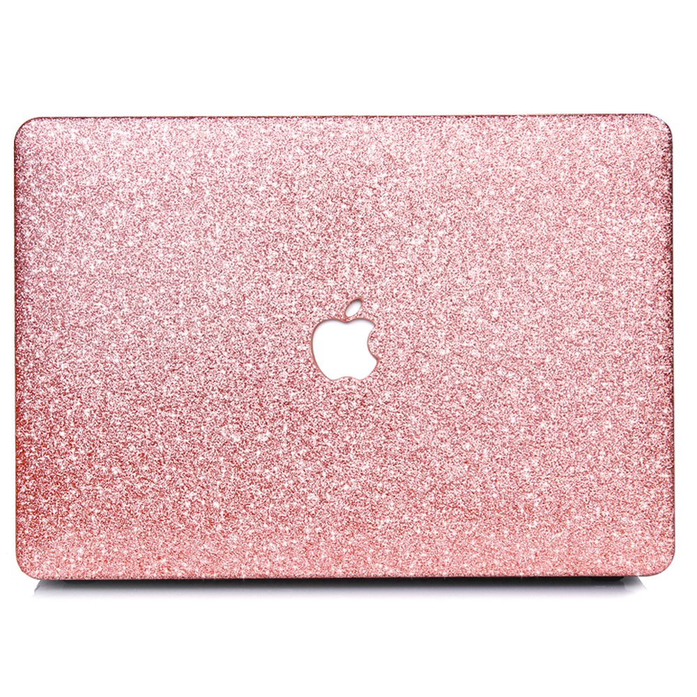 B BELK-MacBook Pro 13'' With Retina Display Case,2 In 1 Bling Crystal Smooth Ultra-Slim Light Weight PC Hard Case With Keyboard Cover For MacBook Pro 13'' With Retina(Model:A1502/A1425)- Rose Golden