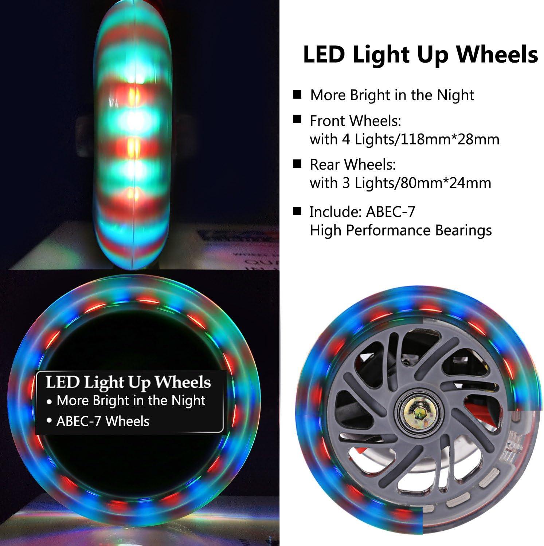 Amazon.com: WeSkate - Patinete para niños con ruedas LED ...