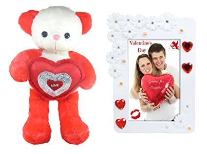 Buy Tickles Tickles Cute Teddy With Lovely Heart And Love Couple ...