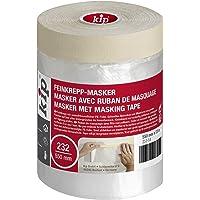 Kip Tape 232-54 fijncrêpemasker – afdekfolie met crêpeband voor schilderen en lakken – bescherming tegen verfvlekken…