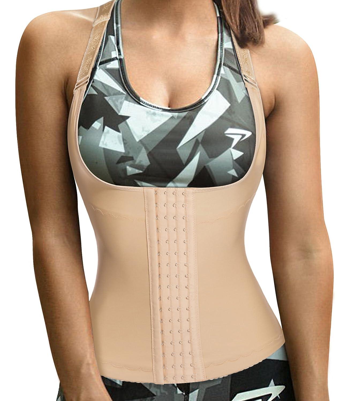 c4122afaff3 Eleady Womens Waist Trainer Corset Vest Slimmer Body Shaper Shapewear for Tummy  Control Postpartum Girdle at Amazon Women s Clothing store