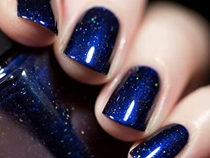 Amazon.com : ILNP Looking Up - Midnight Blue Holographic Nail Polish ...