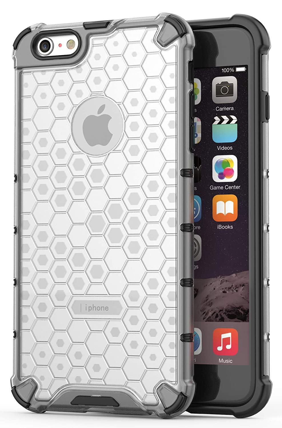 Glasgow Back Case Cover Compatible with Apple iPhone 6 Plus  Honeycomb Pattern    Transparent Cases   Covers
