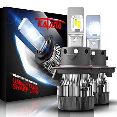 KATANA H13 LED Headlight Bulbs w/Mini Design,10000LM 6500K Cool White CREE Chips 9008 All-in-One Conversion Kit: Automotive