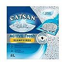 Catsan Katzenstreu Klumpstreu Active Fresh mit Aktivkohle und Frischeduft, 1 Karton (1 x 8l)