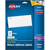 "Avery Easy Peel Return Address Labels 1/2"" x 1-3/4"", Pack of 800 (18167)"