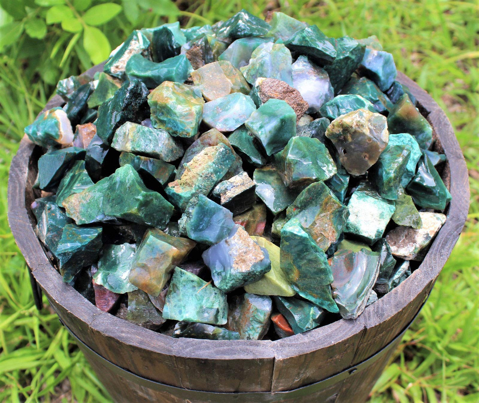 500 Carat Lot Bulk Natural Rough Bloodstone Raw Rock (Crystal Healing 100 Grams) by DD_INC