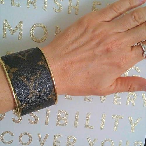 b3e271db77b Amazon.com  Gold tone WIDE Cuff Bracelet fashioned with authentic ...
