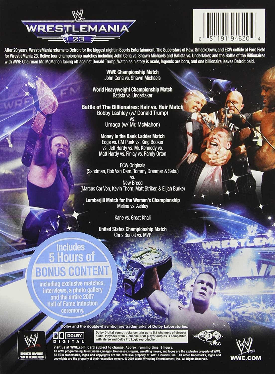 Amazon com: WWE: WrestleMania 23 (The Ultimate Limited Edition