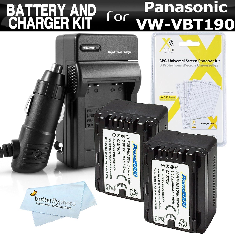 2 Pack Battery And Charger Kit For Panasonic Hc V770k V385 Hd Camcorder Kamera Video Wxf991k W580k Vx981k V180k V380k Vx870k W570k