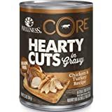 Wellness CORE Hearty Cuts in Gravy, Natural Grain Free Canned Dog Food, 12.5 Ounce Can (Pack of 12)
