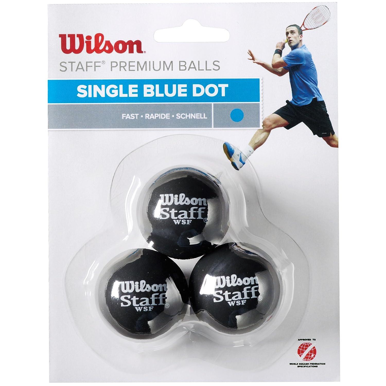Wilson Staff Pelota de Squash, 3 Unidades, Unisex, Azul Negro, 3 ...