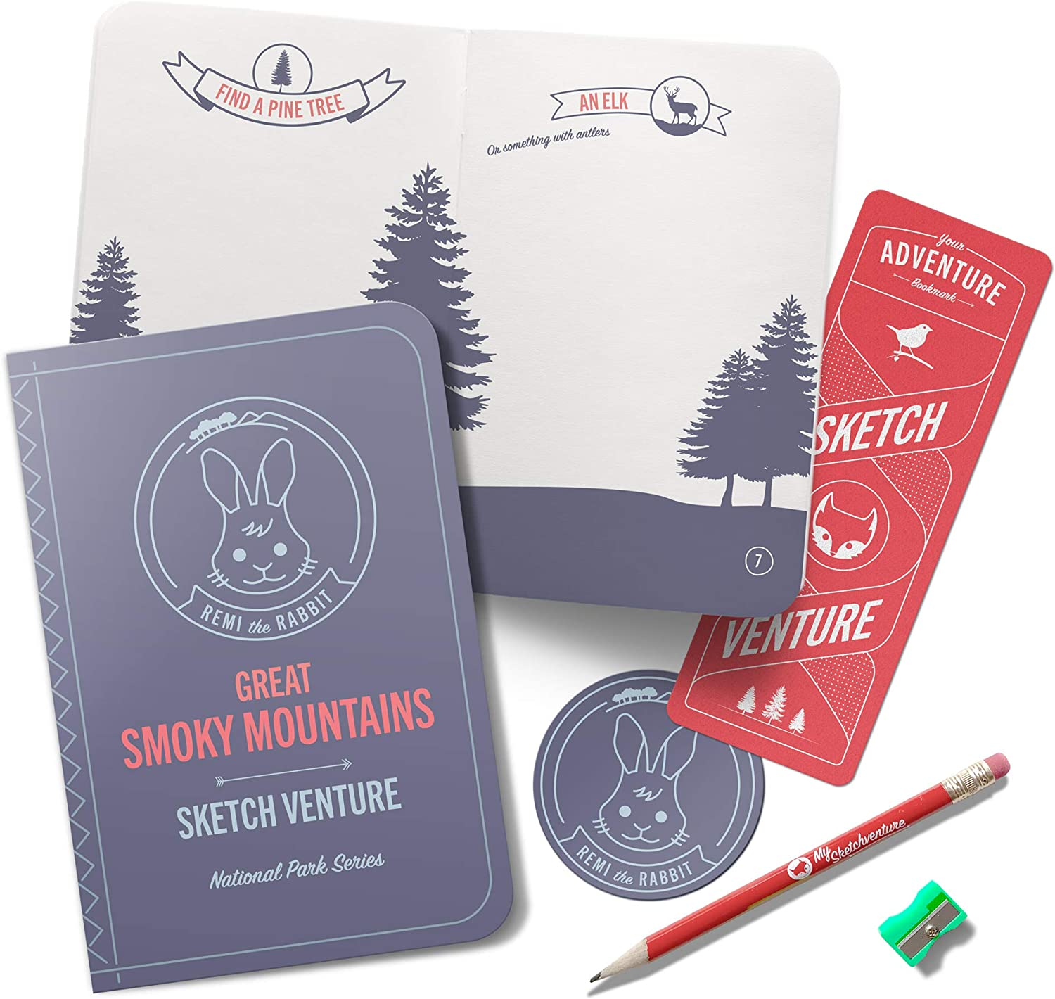 Stamp Passpor Drawing Activities My Sketchventure Great Smoky Mountains Book Kit Great Smoky Mountains National Park Kids Activity Book Kit Entertain Children During Road Trip