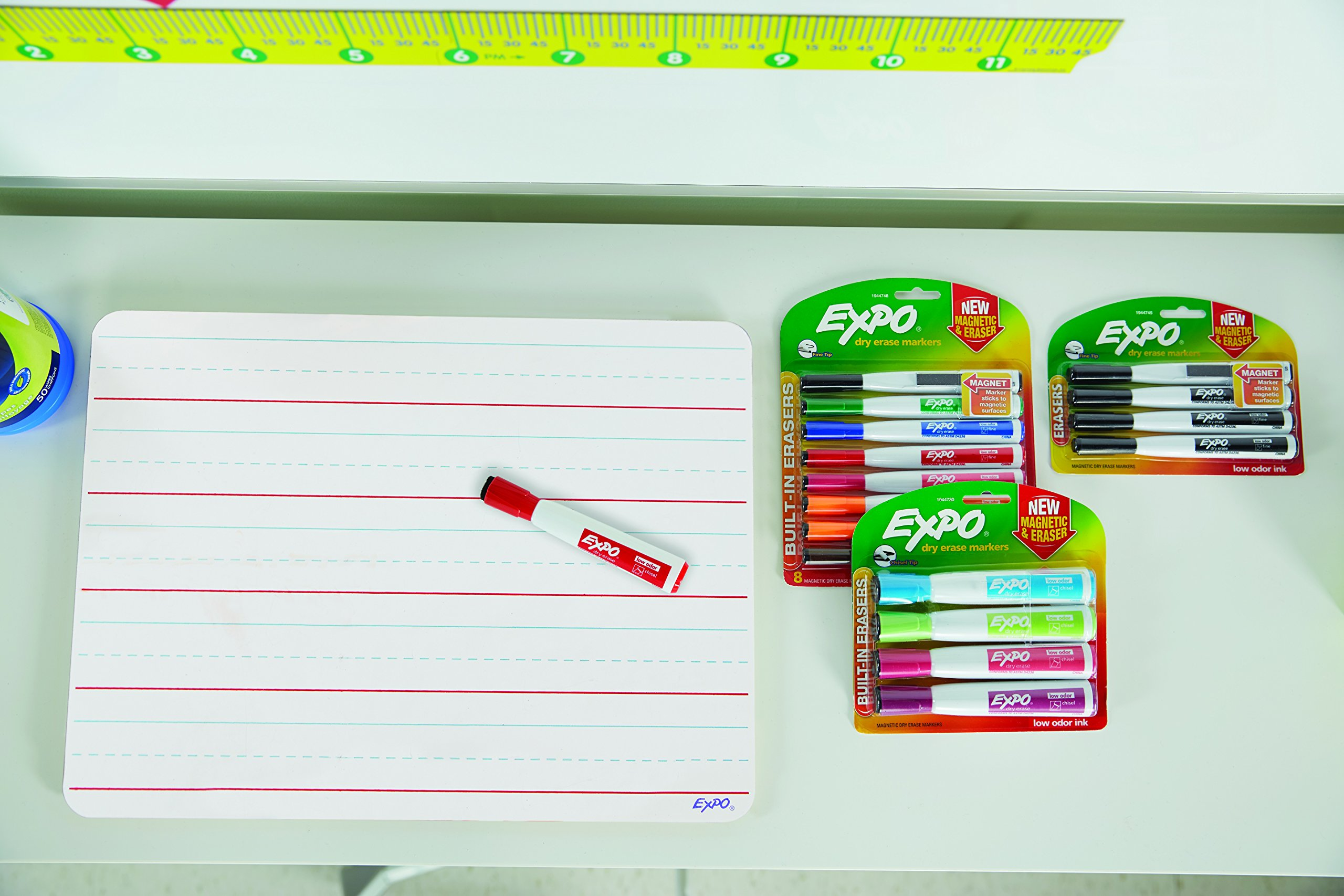 EXPO Magnetic Dry Erase Marker with Eraser, Fine Tip, Black, 12-Count by Expo (Image #8)