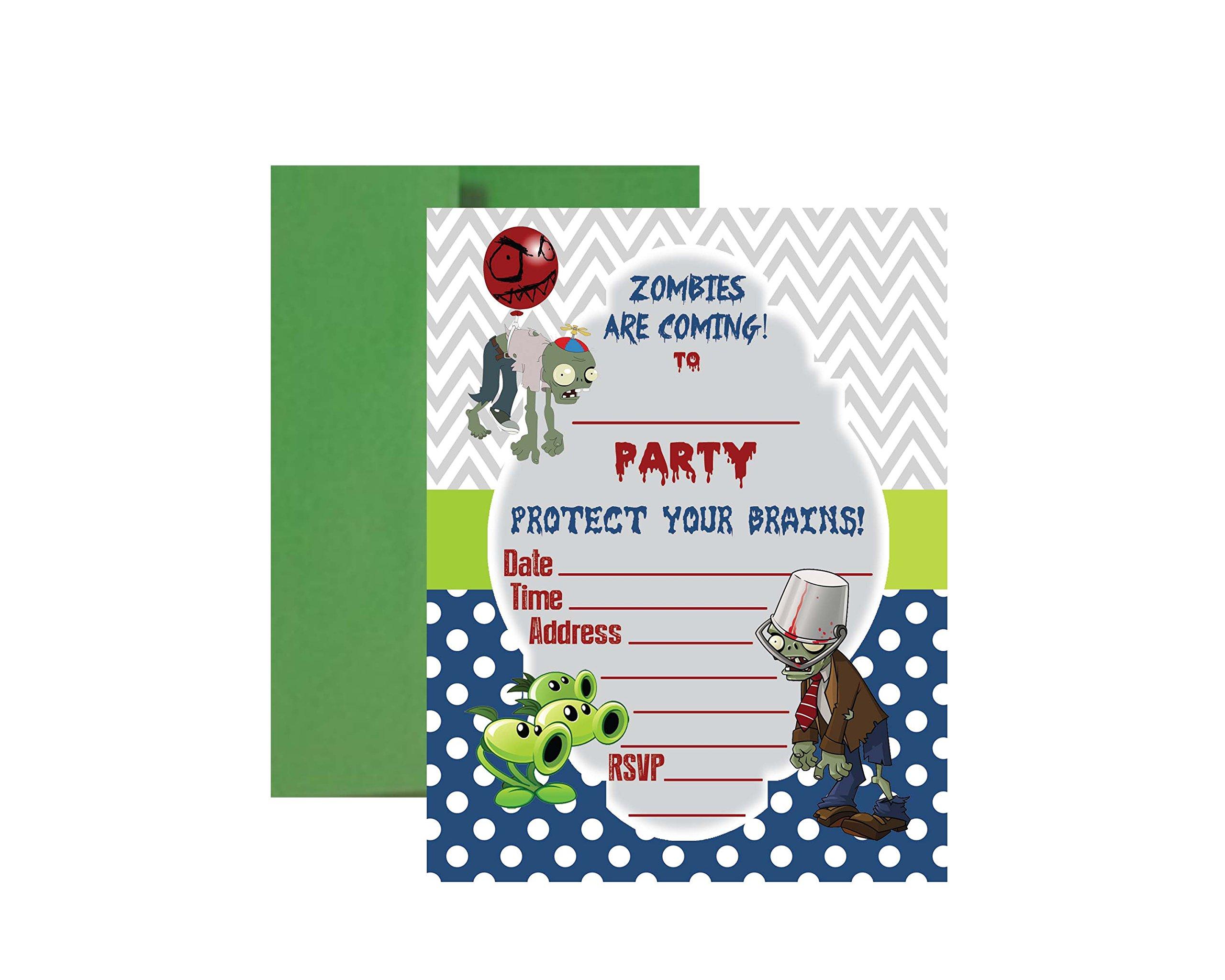 PVZ Birthday Party Supplies (Birthday Invitations): Amazon.com ...