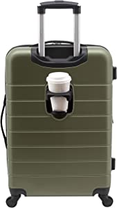 """Wrangler 20"""" Smart Spinner Carry-On Luggage With Usb Charging Port, 20 Inch Carry-On, Olive Green"""