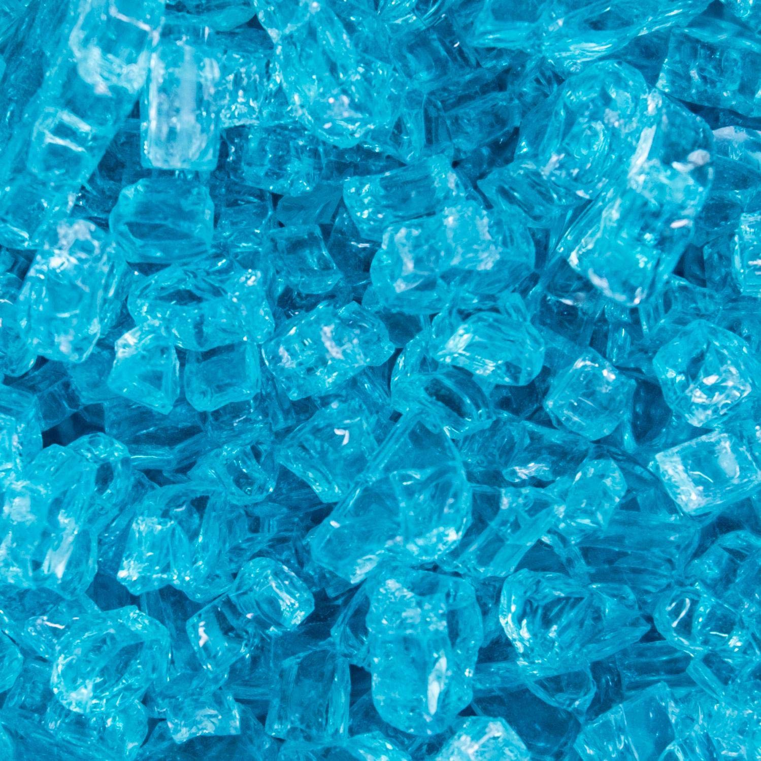 Lakeview Outdoor Designs 1/4-Inch Caribbean Blue Fire Glass - 1 Pound
