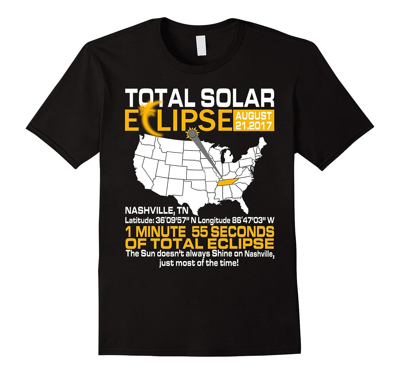 Total Solar Eclipse August 2017 Nashville Tennessee T-shirt-BN