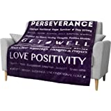 PAVILIA Healing Thoughts Blanket, Soft Fleece Throw for Women | Soft Warm Hugs Inspirational Gift Positive Energy Prayer…