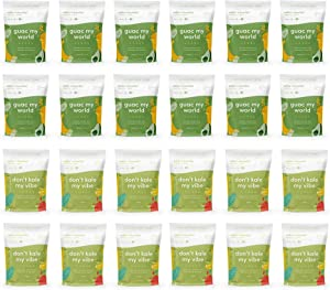 Rollin' n Bowlin' Frozen Fruits and Vegetables Smoothie Mix. 2 Flavors. Vegan, GMO-Free, No Sugars Added. Subscription Box: 24 Pouches Greens Galore