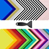 """Permanent Adhesive Vinyl Sheets - 80 Pack 12"""" x 12"""" 35 Assorted Colors Permanent Vinyl for Cutting Machine 70Pack (Matte…"""