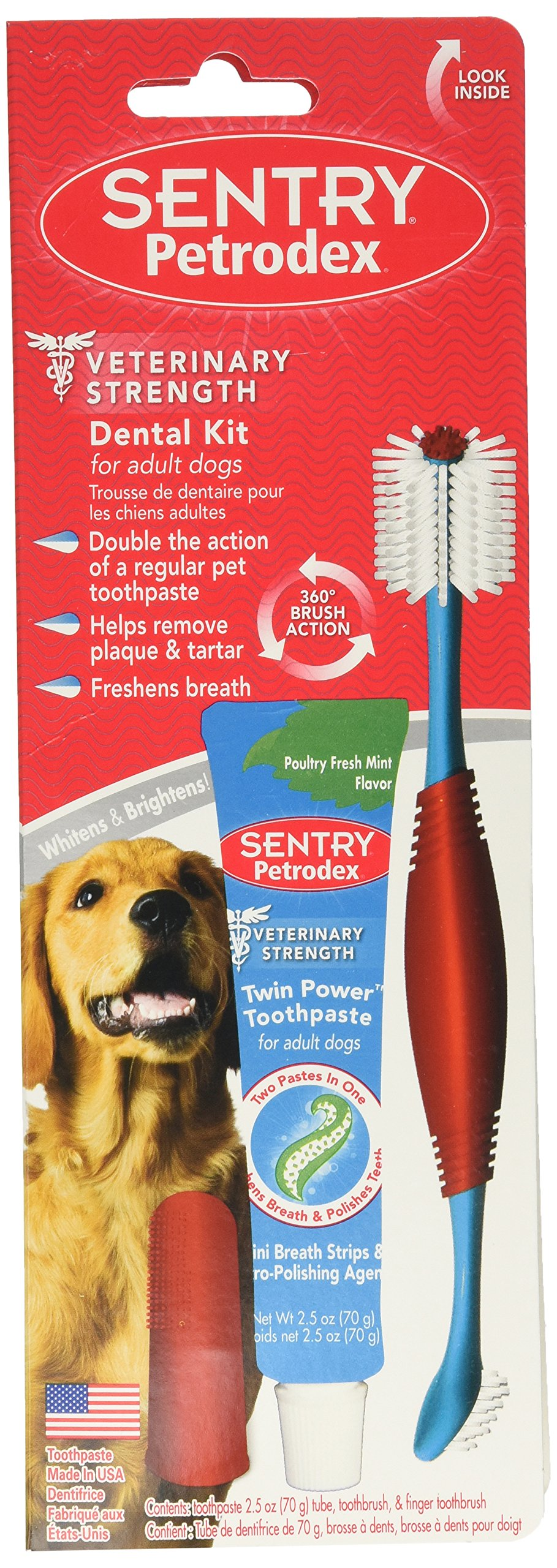 SENTRY Petrodex Dental Care Kit for Adult Dogs by Petrodex