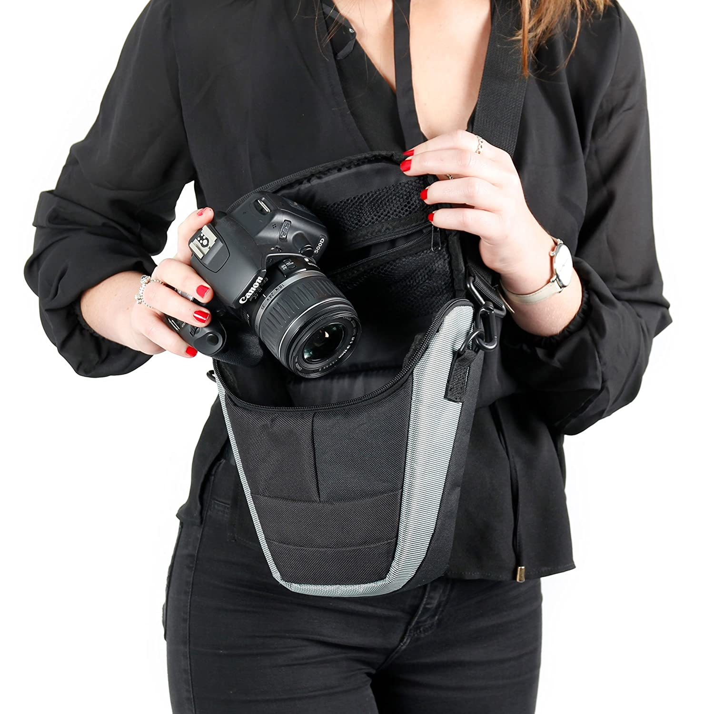 DURAGADGET Custodie Zaino e custodie per Canon PowerShot SX430/Is e sx730/HS e Canon EOS 6d Mark II e M100/ /Garanzia 2/Anni