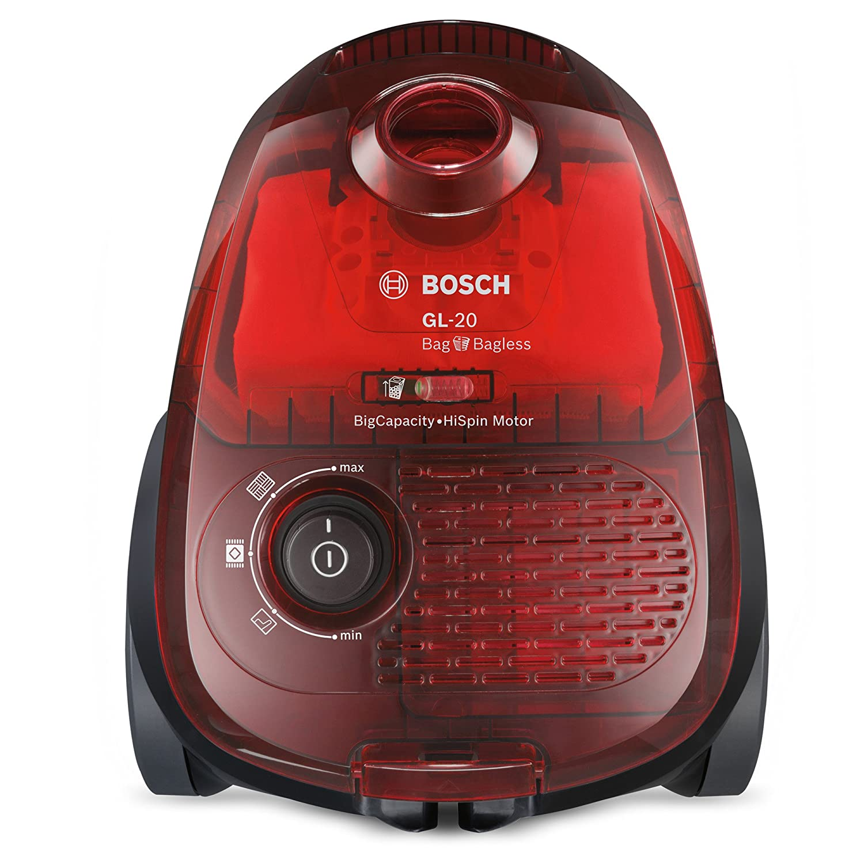 Bosch Bag&Bagless Aspirador sin Bolsa, diseño Compacto, 600 W, 3.5 ...