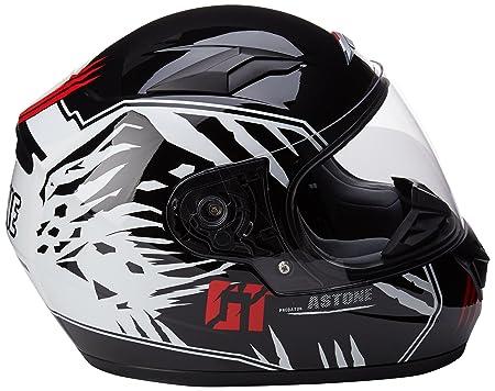 Amazon.es: Astone GT2KG-PREDATOR-BWM - Casco moto Integral para niños, Negro/Blanco, Talla M (49/50 cm)