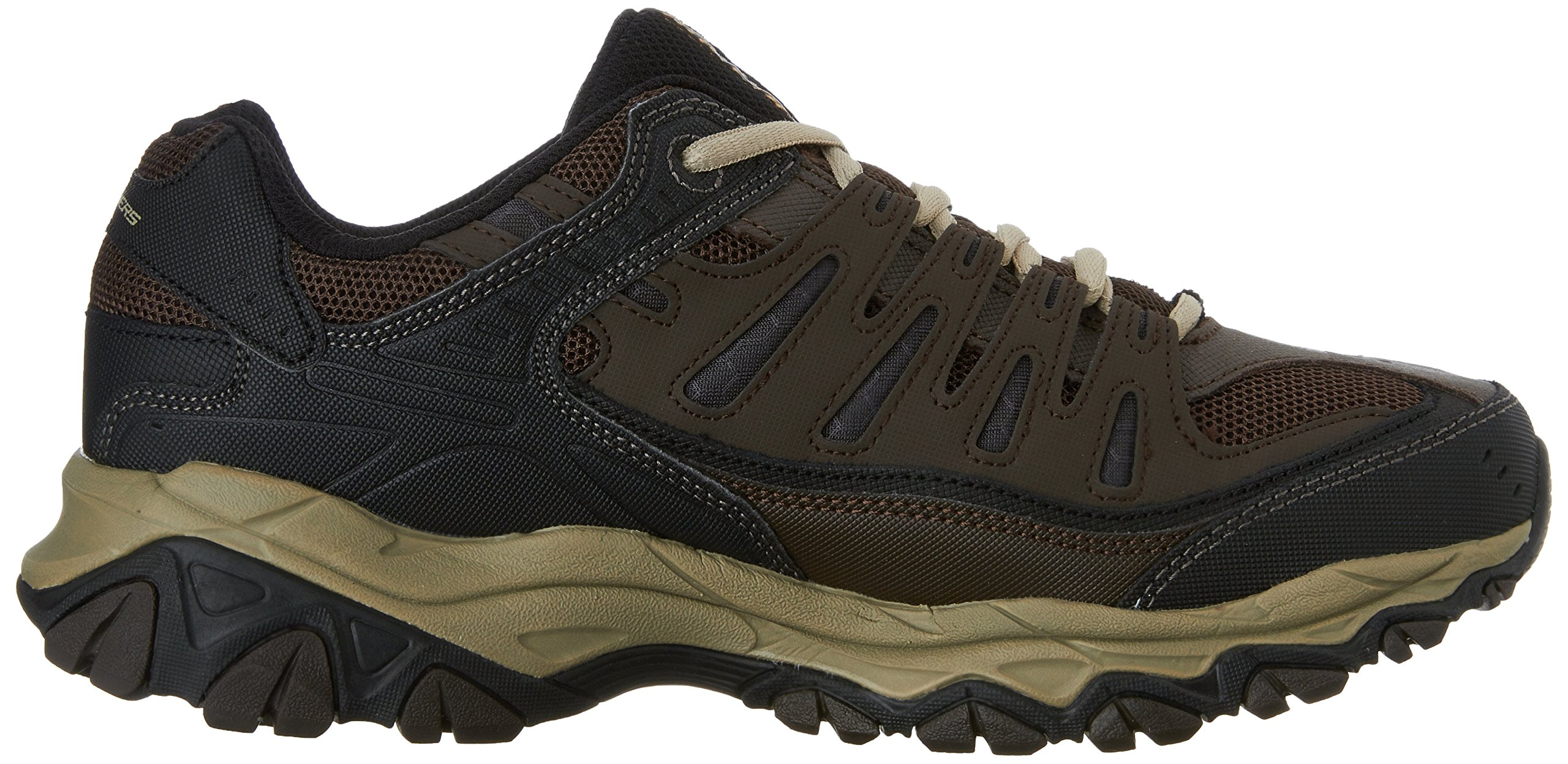 Skechers Men's AFTERBURNM.FIT Memory Foam Lace-Up Sneaker, Brown/Taupe, 7.5 M US by Skechers (Image #7)