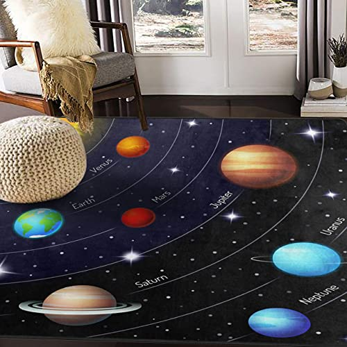 ALAZA Outer Space Solar System Area Rug Rugs for Living Room Bedroom 7 x5