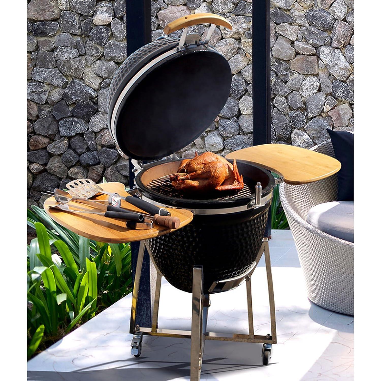 Super Grills - Kamado de 53 cm, parrilla para barbacoa de ...