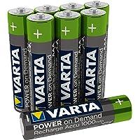 VARTA Power on Demand oplaadbare accu, Ready2Use voorgeladen AAA Micro 1000 mAh Ni-Mh accu, oplaadbaar zonder…