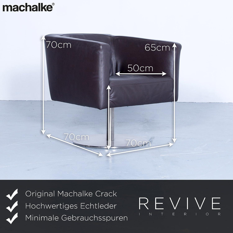 Crack Machalke Fauteuil.Machalke Crack 95 Fauteuil Rotatif De Marron Cuir Veritable