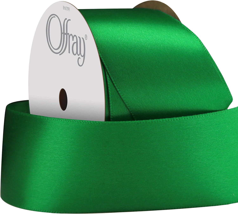 Berwick Offray 068878 7//8 Wide Single Face Satin Ribbon 6 Yds Emerald Green