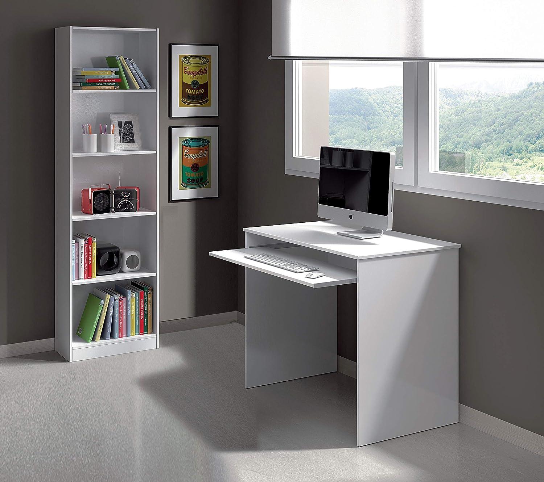 79 x 90 x 54 cm Esidra Scrivania Porta PC-Laminato Bianco