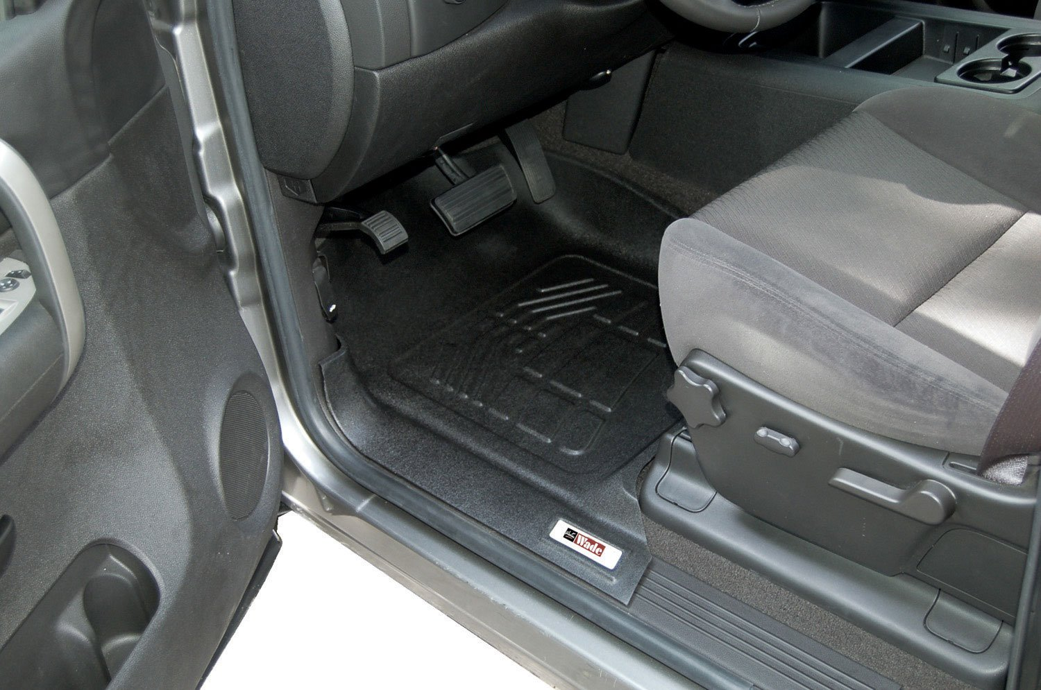 1 Pair Westin Wade 72-120032 Gray Sure-Fit Front Right And Left Molded Floor Mat Set